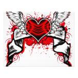 Corazón con las alas invitaciones personalizada