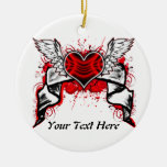 Corazón con las alas: Ornamento adaptable Ornamentos De Reyes