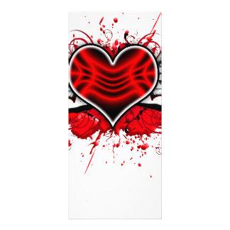 Corazón con las alas diseño de tarjeta publicitaria