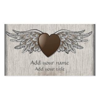 Corazón con las alas tarjetas de visita