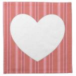Corazón con las rayas servilletas de papel