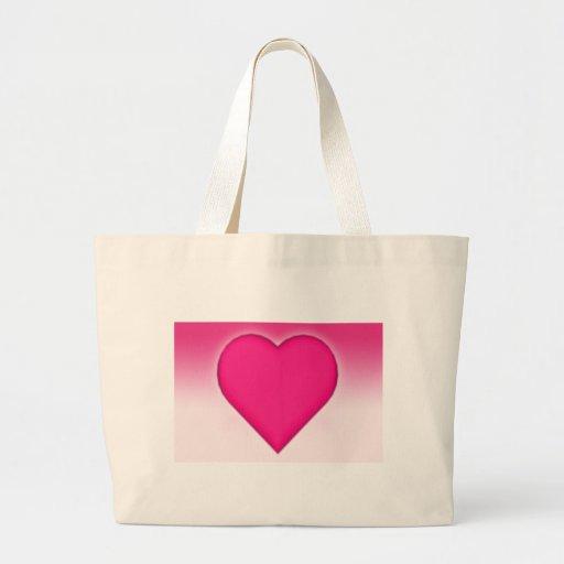 Corazón con los antecedentes de la pendiente: bolsa tela grande