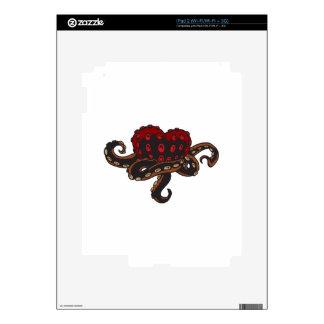 Corazón con tentáculos calcomanía para iPad 2