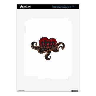 Corazón con tentáculos iPad 3 pegatina skin