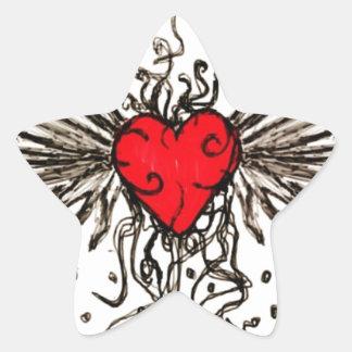 Corazón con Wingz Colcomania Cuadrada