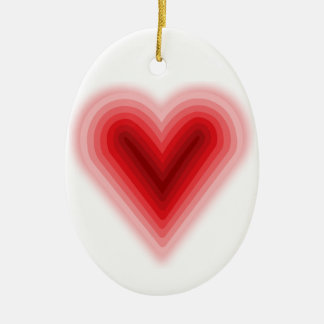 Corazón concéntrico del el día de San Valentín con Adornos De Navidad