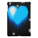 Corazón congelado azul iPad mini cárcasas