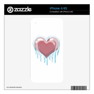 Corazón congelado calcomanía para iPhone 4S