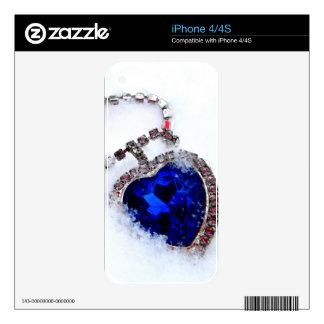 Corazón congelado calcomanías para el iPhone 4