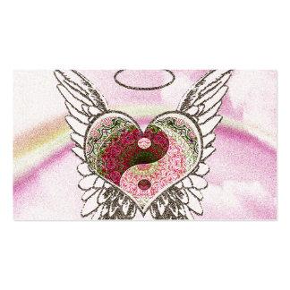 Corazón conmemorativo de la tarjeta el | Yin Yang Tarjetas De Visita