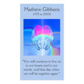 Corazón conmemorativo del arco iris de la tarjeta tarjetas de visita