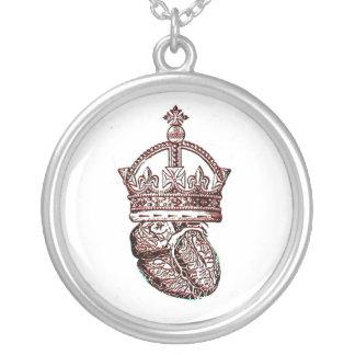 Corazón coronado colgantes