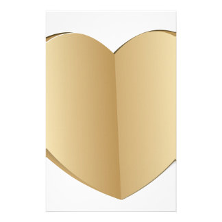 Corazón cortado del papel personalized stationery