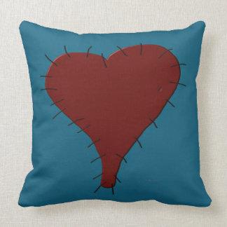 Corazón cosido 20 x almohada de tiro 20