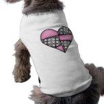 Corazón cosido acolchado rellenado Pink-03 Ropa Para Mascota