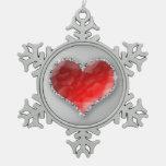 Corazón cristalino adorno