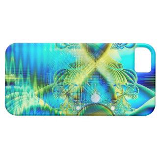 Corazón cristalino de la turquesa de la cal del am iPhone 5 Case-Mate carcasas