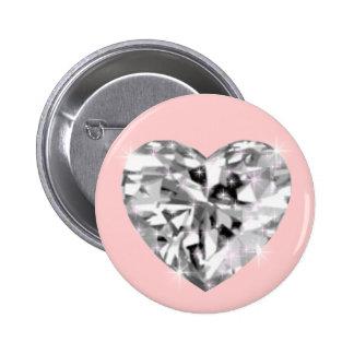Corazón cristalino pin