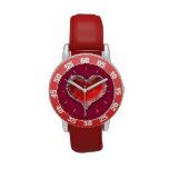 Corazón cristalino reloj de mano