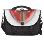 Corazón cristiano bolsas para portatil