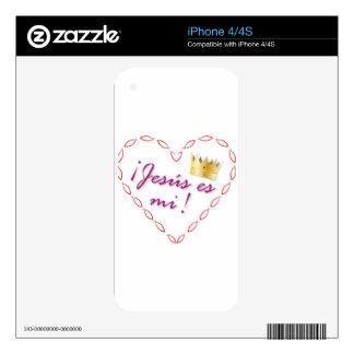 corazon cristiano calcomanía para iPhone 4S