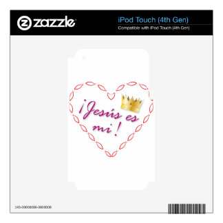 corazon cristiano calcomanías para iPod touch 4G