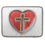 Corazón cristiano funda para macbooks