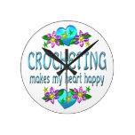 Corazón Crocheting feliz