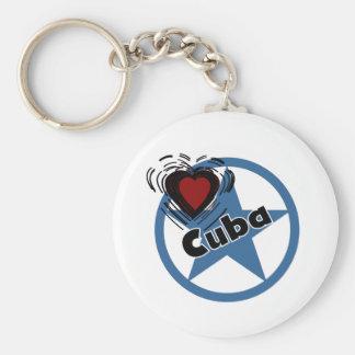 Corazón Cuba Llavero Personalizado