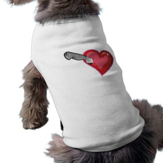 Corazón cuchillo heart knife playera sin mangas para perro