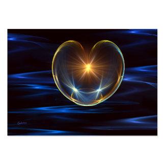 Corazón curativo tarjetas de visita grandes
