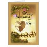 Corazón de 3405 navidad de la esposa tarjeta de felicitación