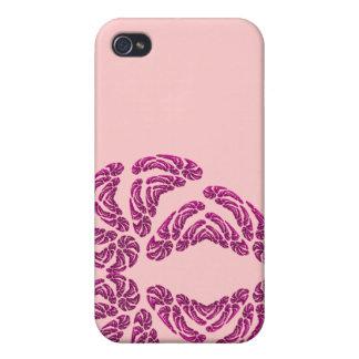 Corazón de 4 fractales iPhone 4 protectores