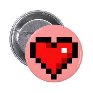corazón de 8 bits pin redondo de 2 pulgadas