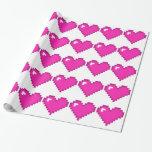Corazón de 8 bits rosado