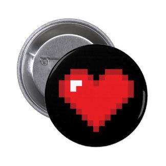 Corazón de 8 pedazos pin