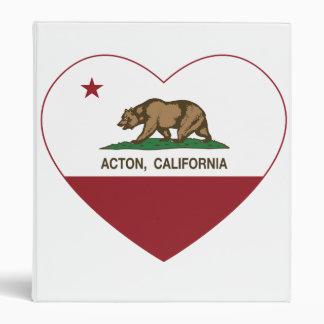"""corazón de Acton de la bandera de California Carpeta 1"""""""