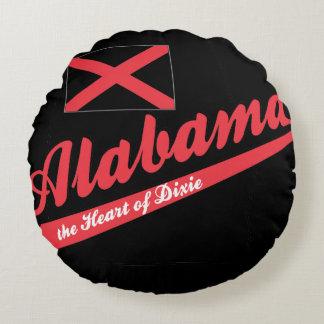 Corazón de Alabama de Dixie Cojín Redondo