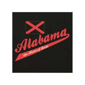 Corazón de Alabama de Dixie Cuadros De Madera