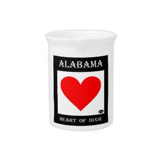 Corazón de Alabama de Dixie Jarras Para Bebida