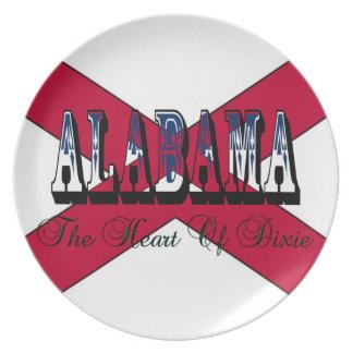 Corazón de Alabama de la placa de colector de Dixi Plato De Cena