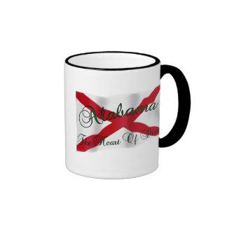 Corazón de Alabama de la taza de café de Dixie