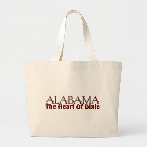 Corazón de Alabama de las camisetas de Dixie Bolsa Lienzo