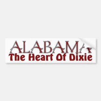 Corazón de Alabama de las pegatinas para el parach Pegatina De Parachoque