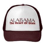 Corazón de Alabama de los gorras de Dixie