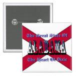 Corazón de Alabama del botón de la bandera del est Pins