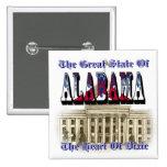 Corazón de Alabama del botón de la Capital del Est Pin