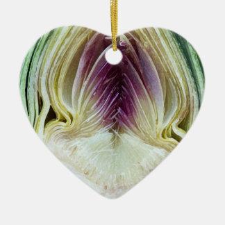 Corazón de alcachofa - ornamento en forma de coraz ornamento para reyes magos