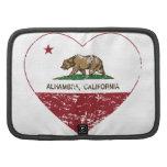 corazón de Alhambra de la bandera de California ap Planificadores