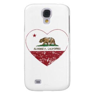 corazón de Alhambra de la bandera de California ap
